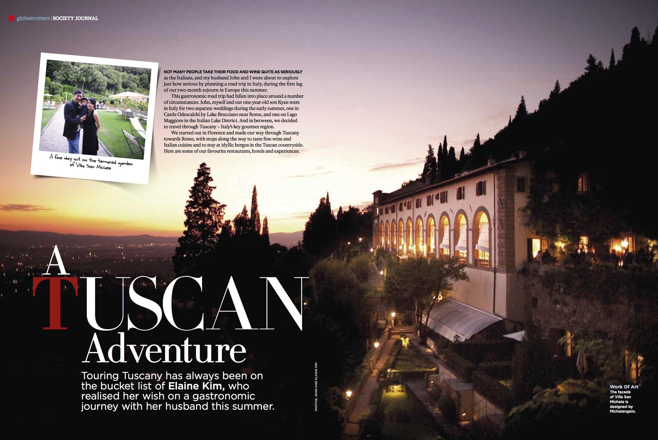 Tuscany Food and Wine, Tatler Traveller Dec 2012 [ Italy ]