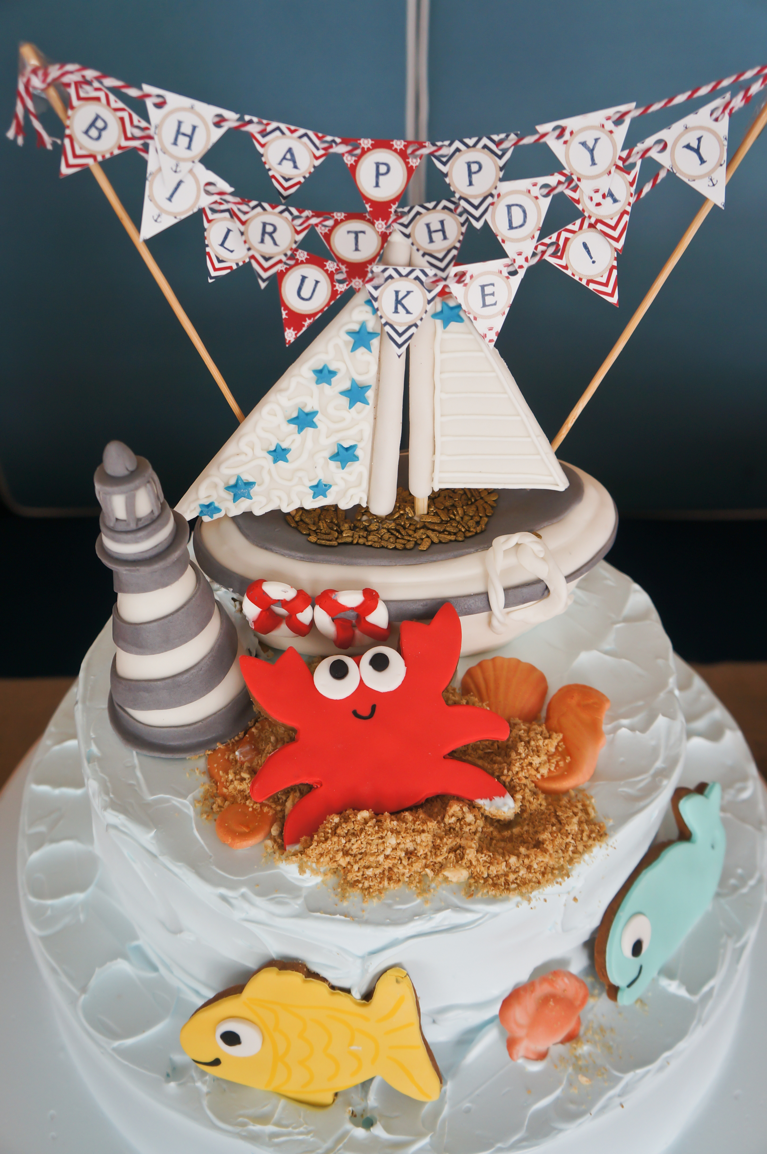 happy birthday luke nautical cake
