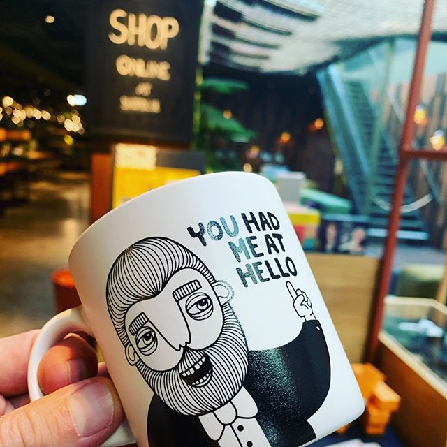 """You had me at """"can I shop this cup"""" @downtowncamper #onlineshop with @bahkadisch #stockholm #fika"""