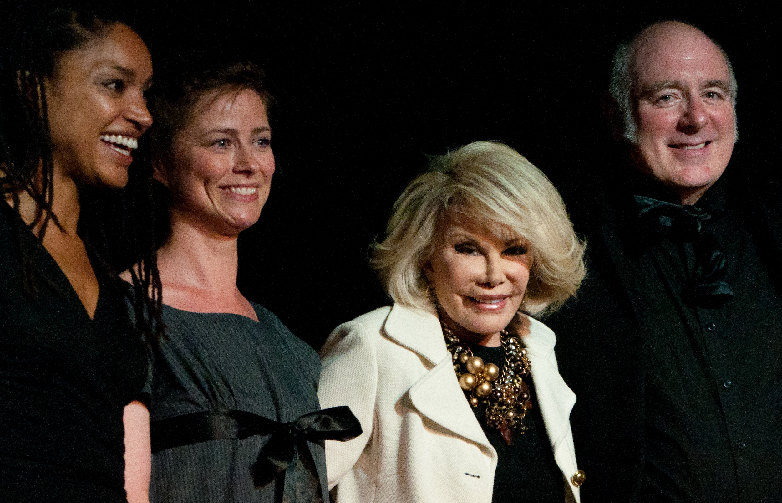 Director Kerri McLean with cast and Joan Rivers off-broadway.jpg