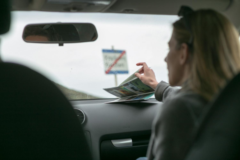 Φωτογραφία φεύγοντας από την Τήνο, τραβηγμένη μέσα από το αυτοκίνητο.
