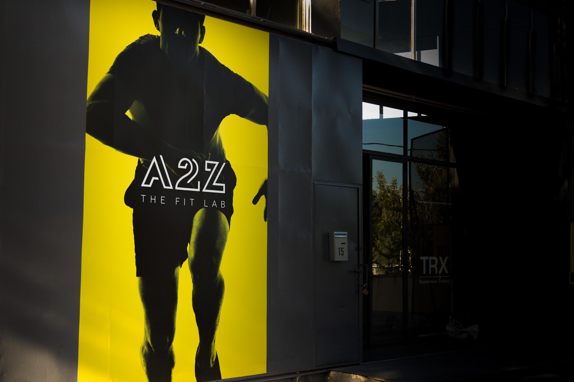 Η είσοδος του γυμναστηρίου A2Z the fit lab.