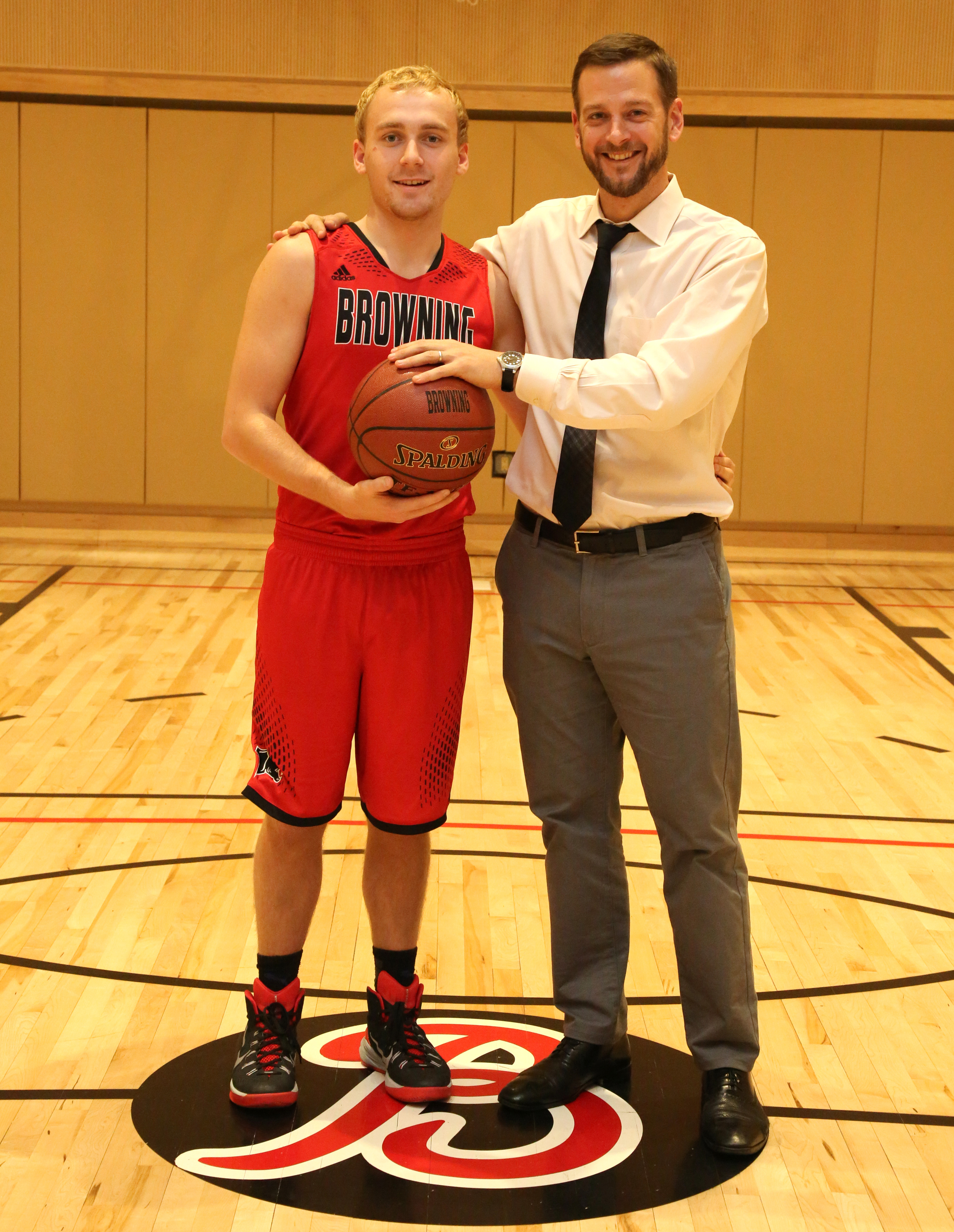 Will Jacob '16 with Coach Ragsdale.