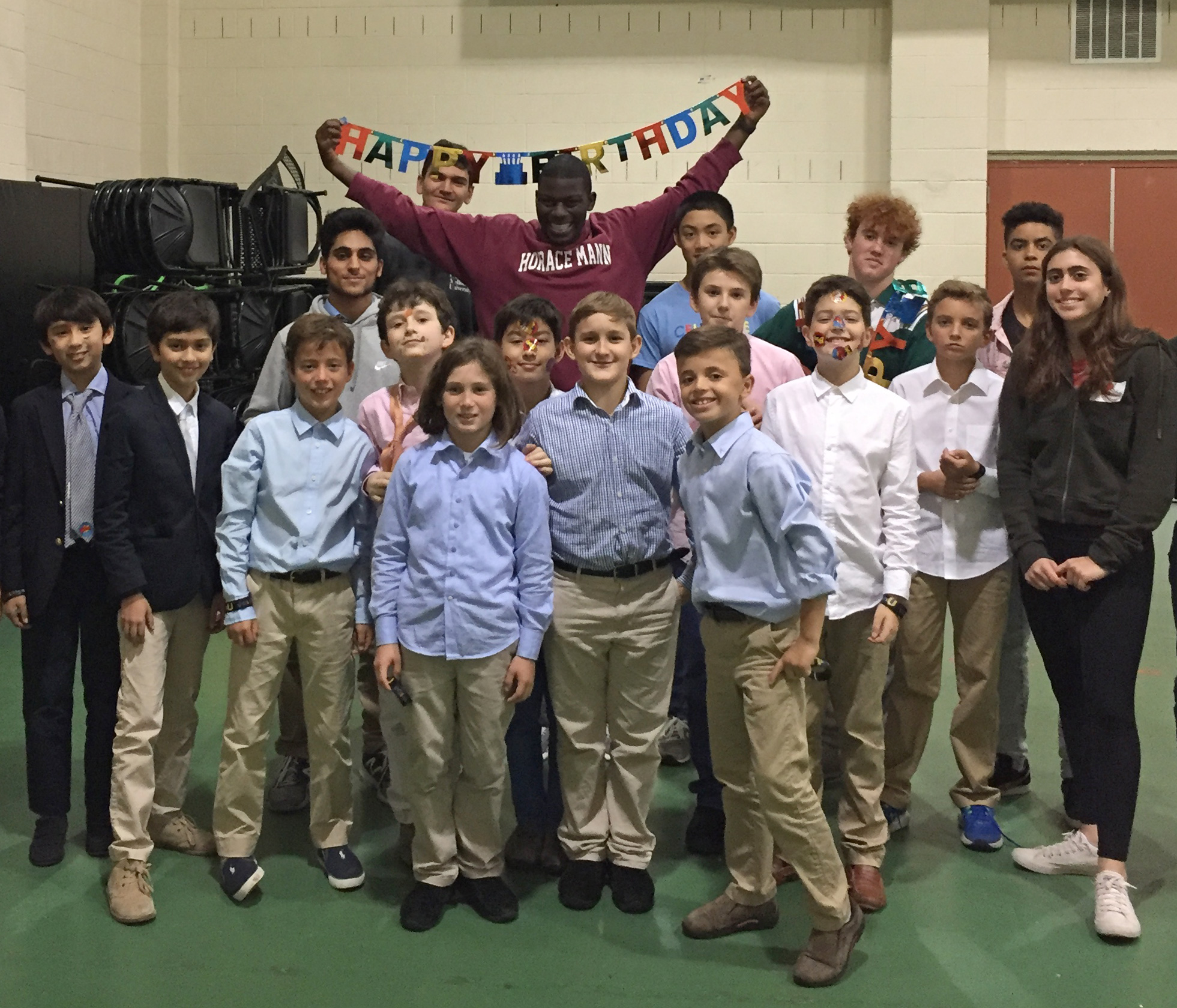 The fifth grade class are volunteering with The Celebrate U Foundation, whose mission is to spread happiness by throwing birthday parties for children who reside or temporarily live in shelters.