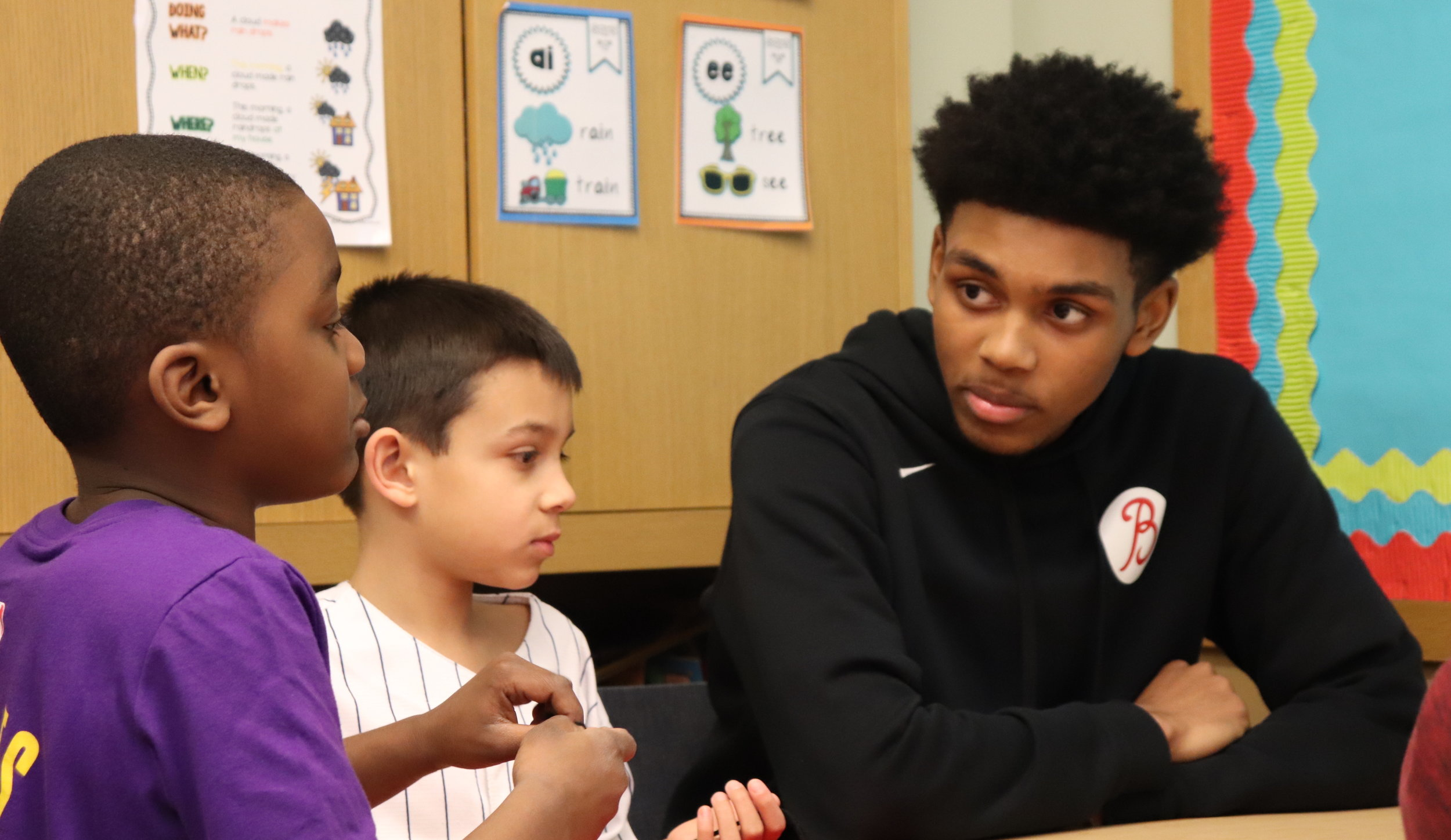"""Justin J. '19 created a Browning """"buddy"""" program that bring boys of different grades closer together though a variety of activities that include how to welcome new members of the community and what it is to be an ally."""