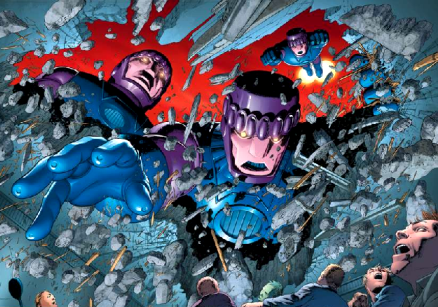 """""""Sentinels"""" from the X-men comics and films."""