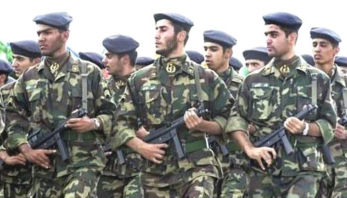 Soldiers of the elite Iranian Quds Force.