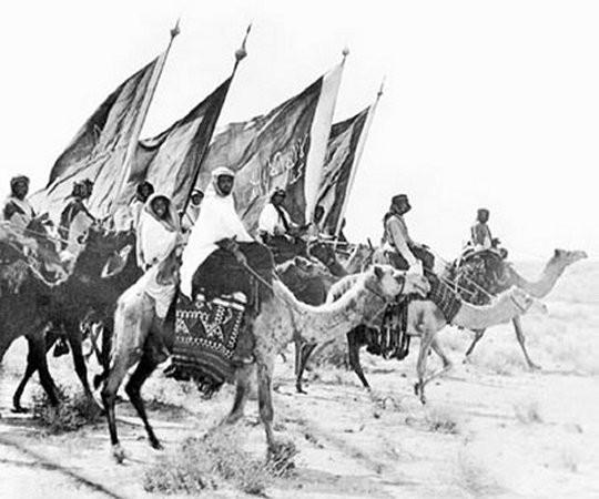 Ikhwan cavalry.