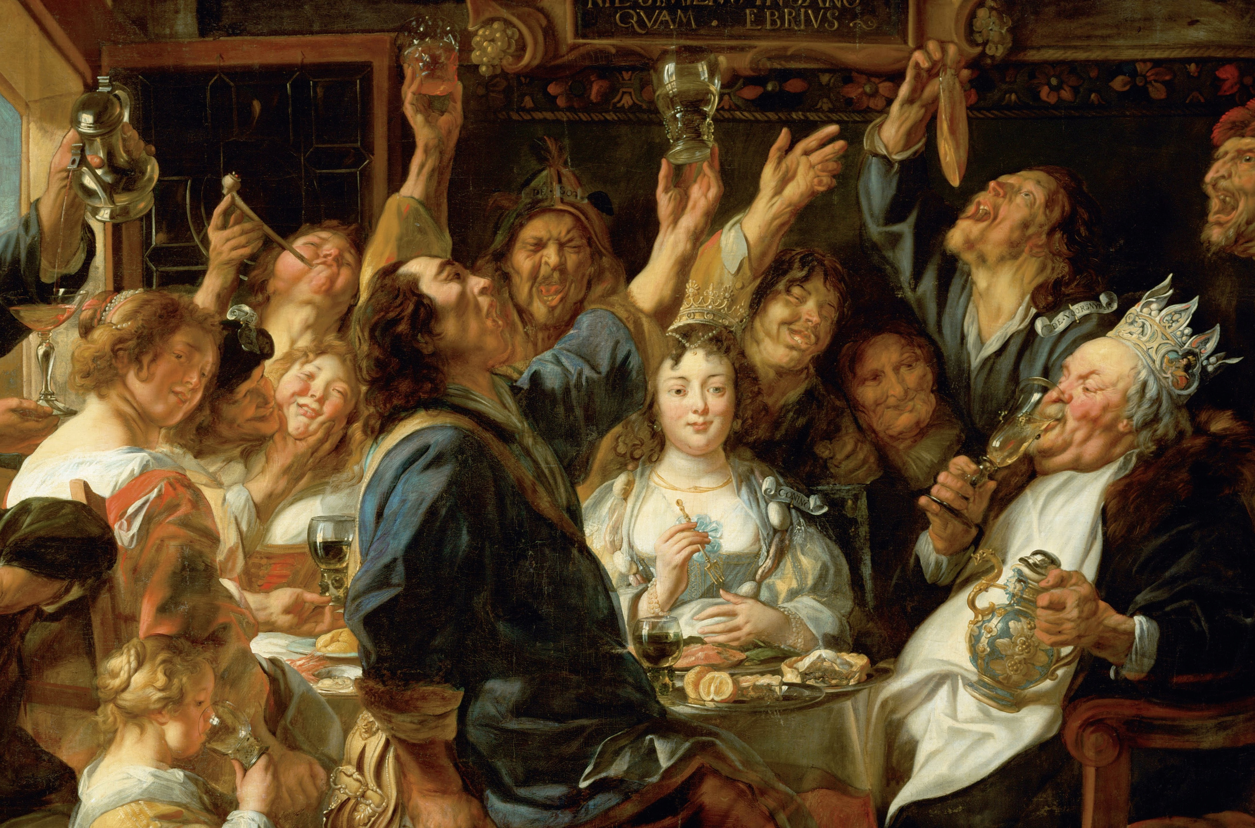 "Jacob Jordaens, ""The Feast of the Bean King,"" ca.1640 - 1645"