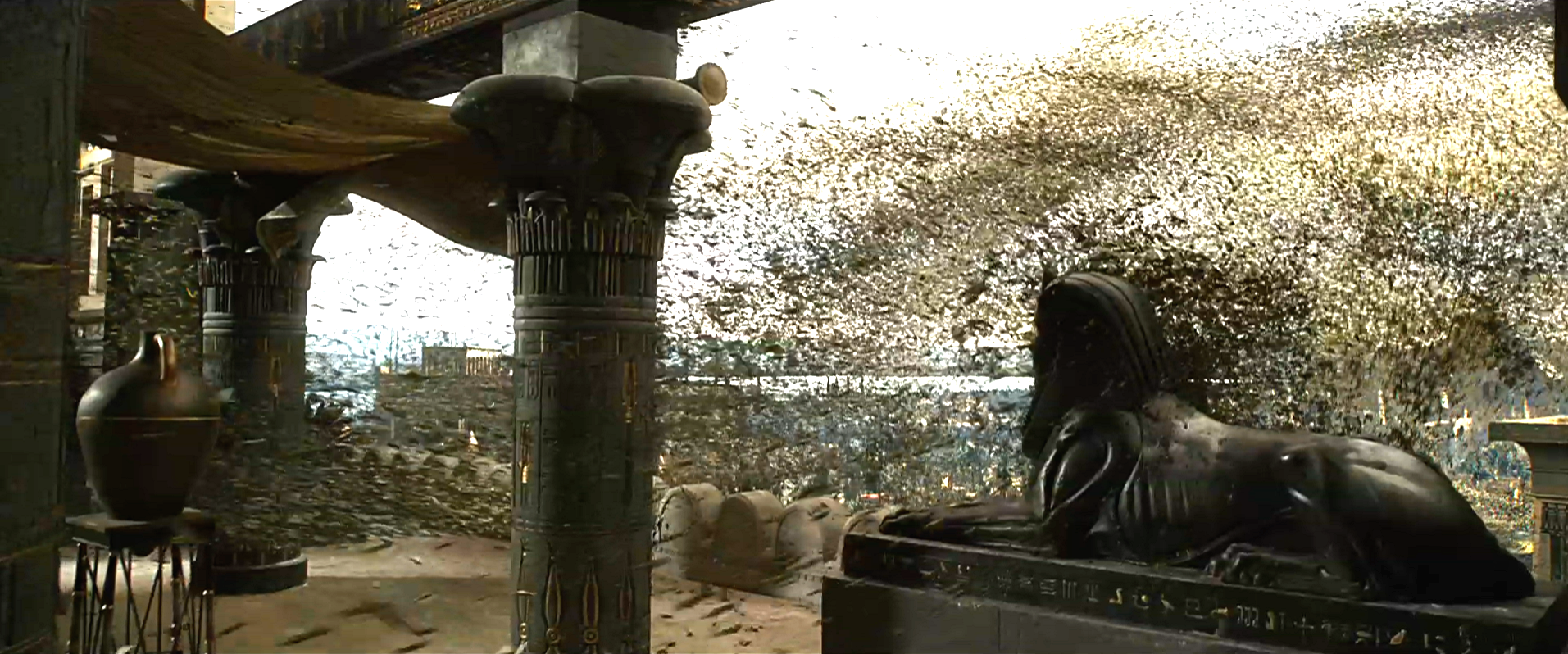 "The ""Plague of Flies"" from the film ""Exodus: Gods and Kings."""