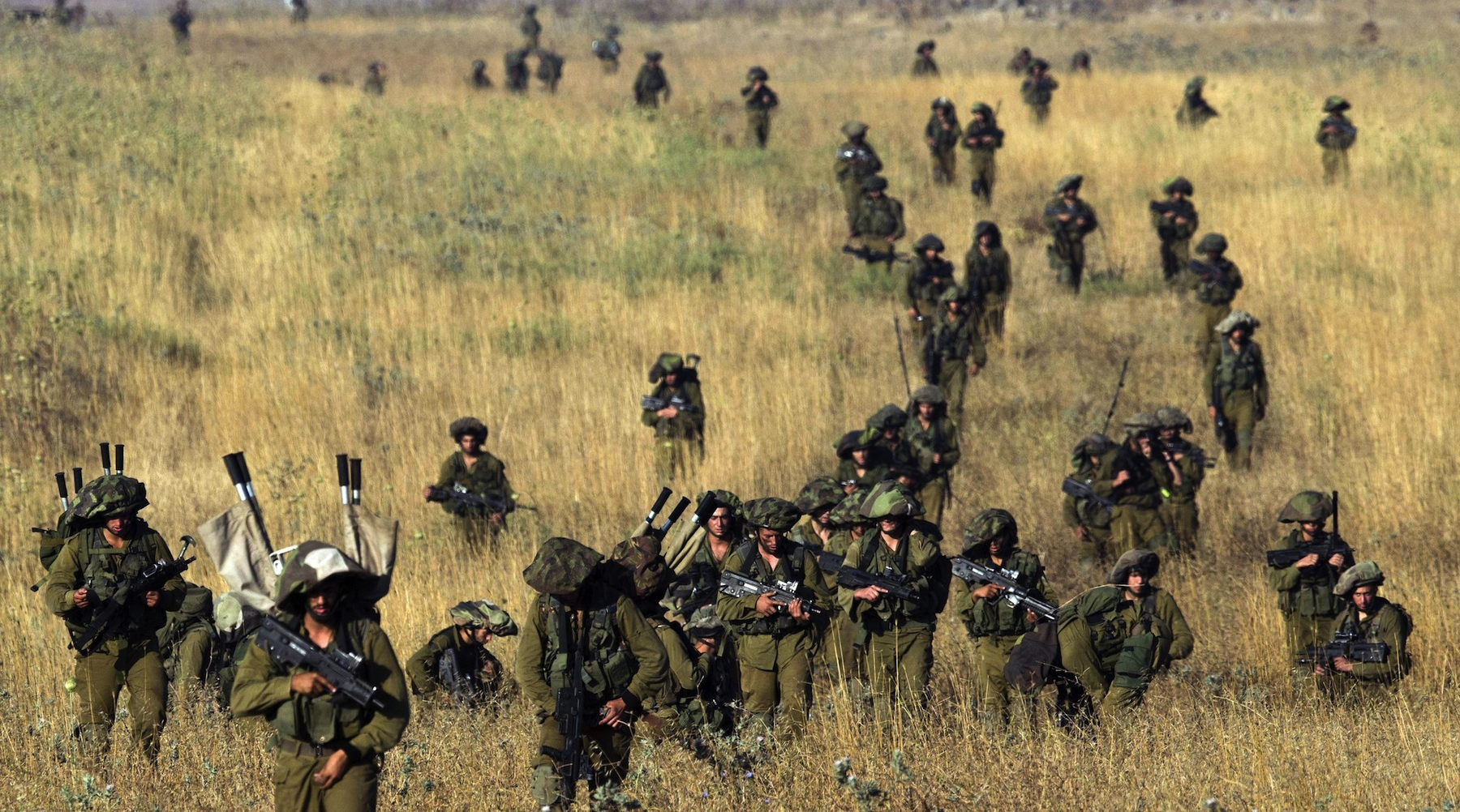 IDF soldiers in the Golan Heights