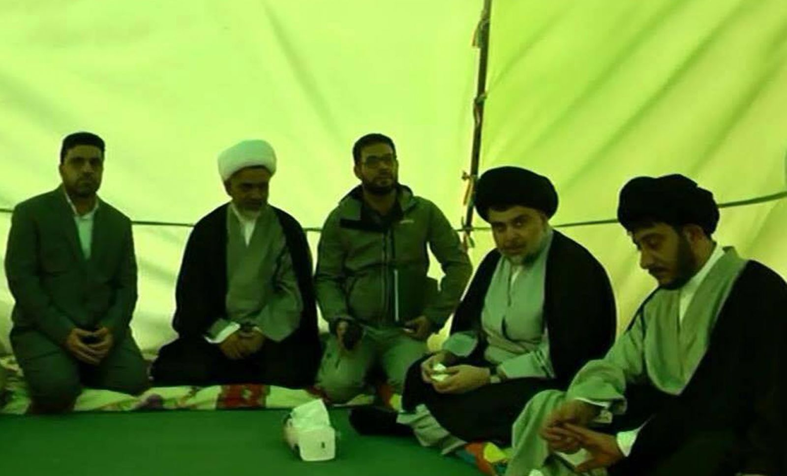 Muqtada al-Sadr (second from the right)