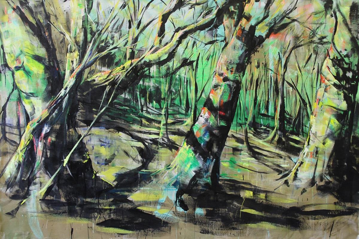 "Turkey Mountain Study #2 100""x68"" Acrylic on Canvas"