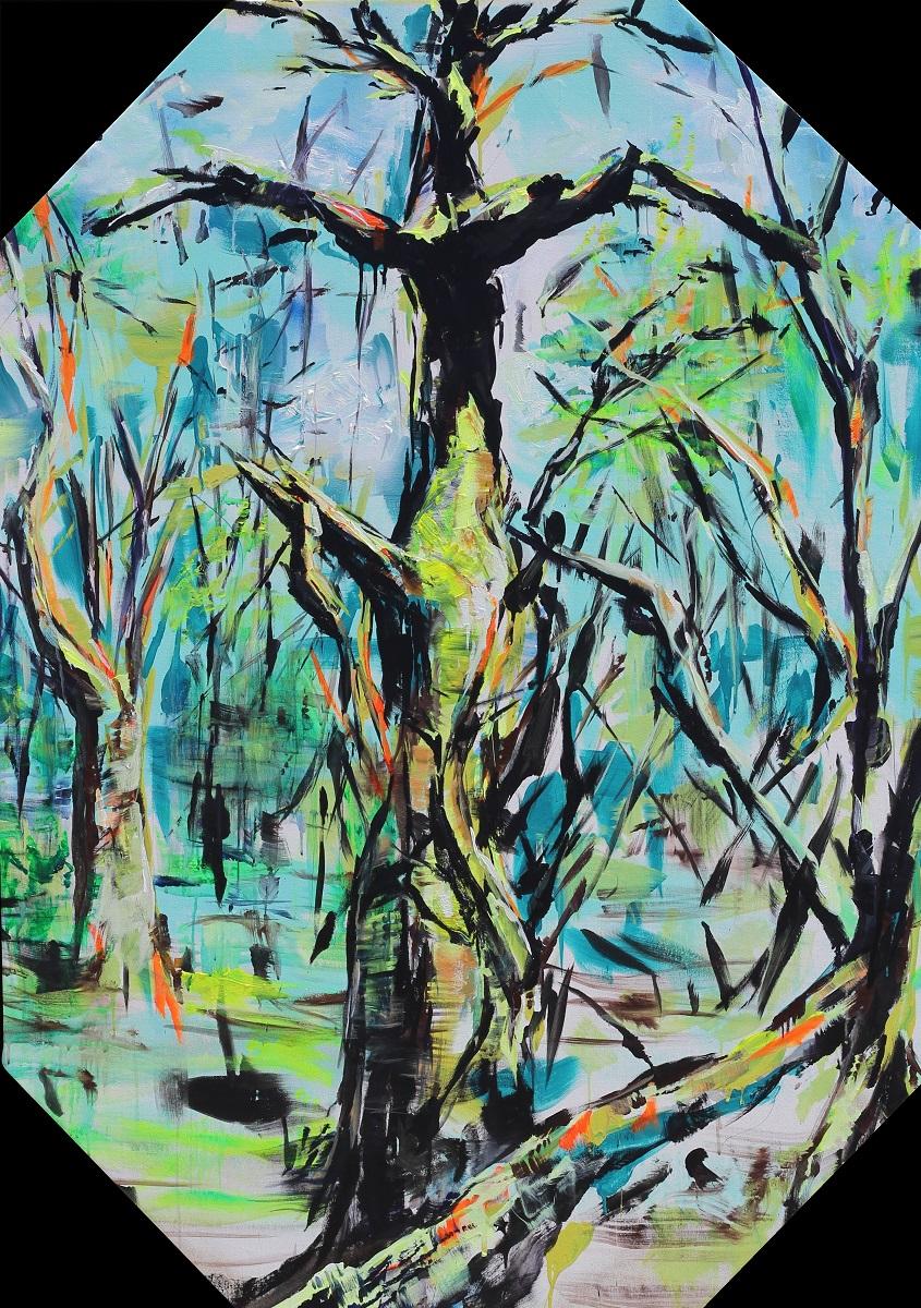 "Turkey Mountain Study #3 47""x67"" Acrylic on Canvas"