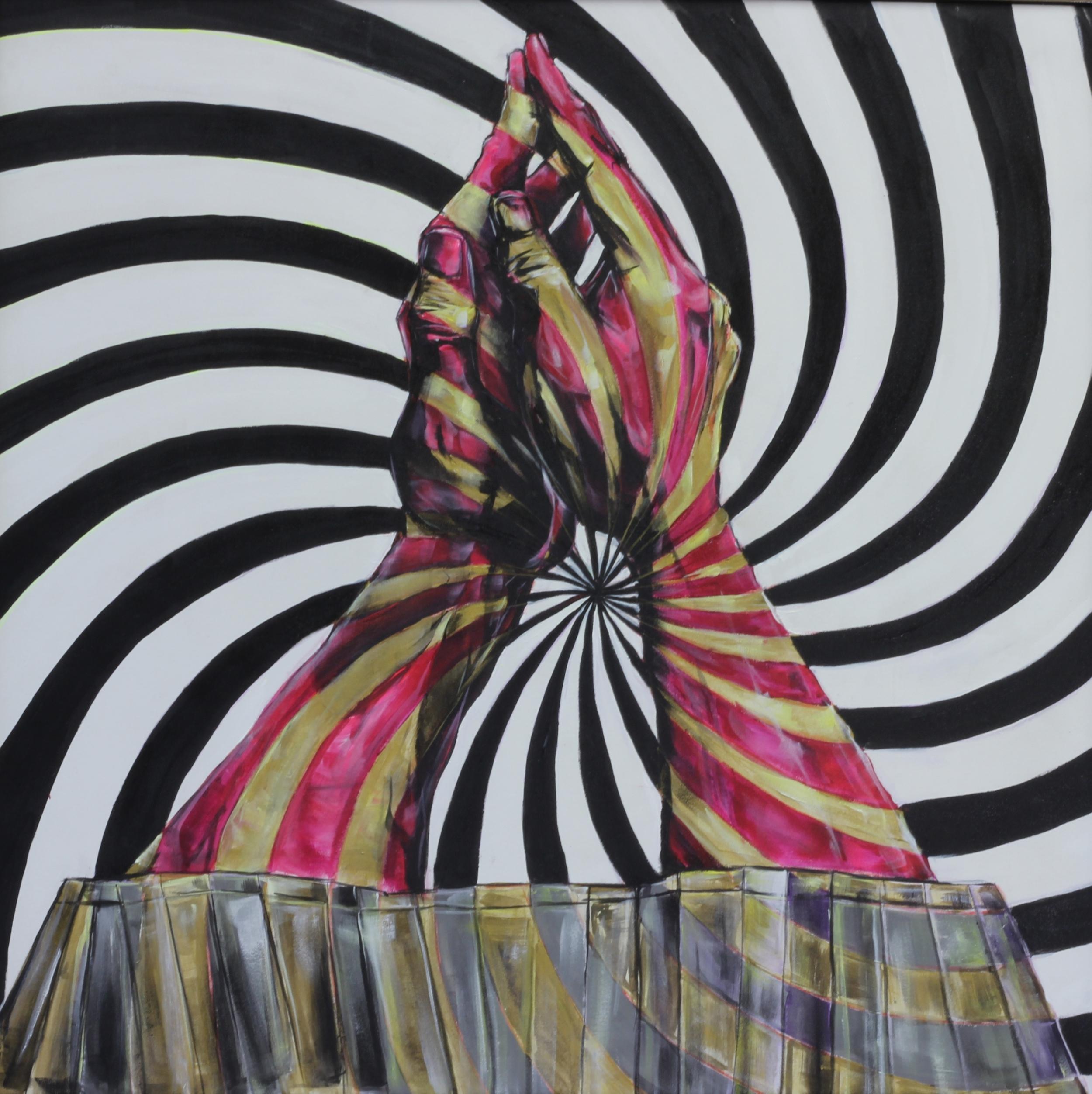 Power Hour. Acrylic on Canvas. 5'x5'
