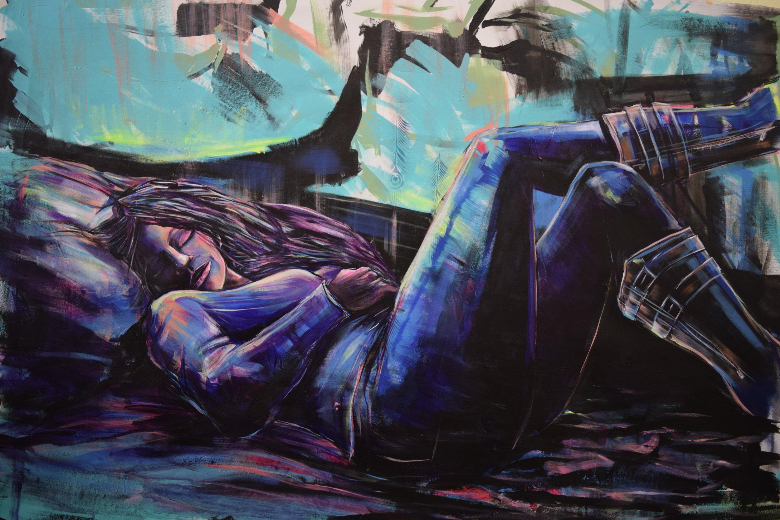 """San Diego Boots. 2017. Acrylic on Canvas. 70""""x50"""""""