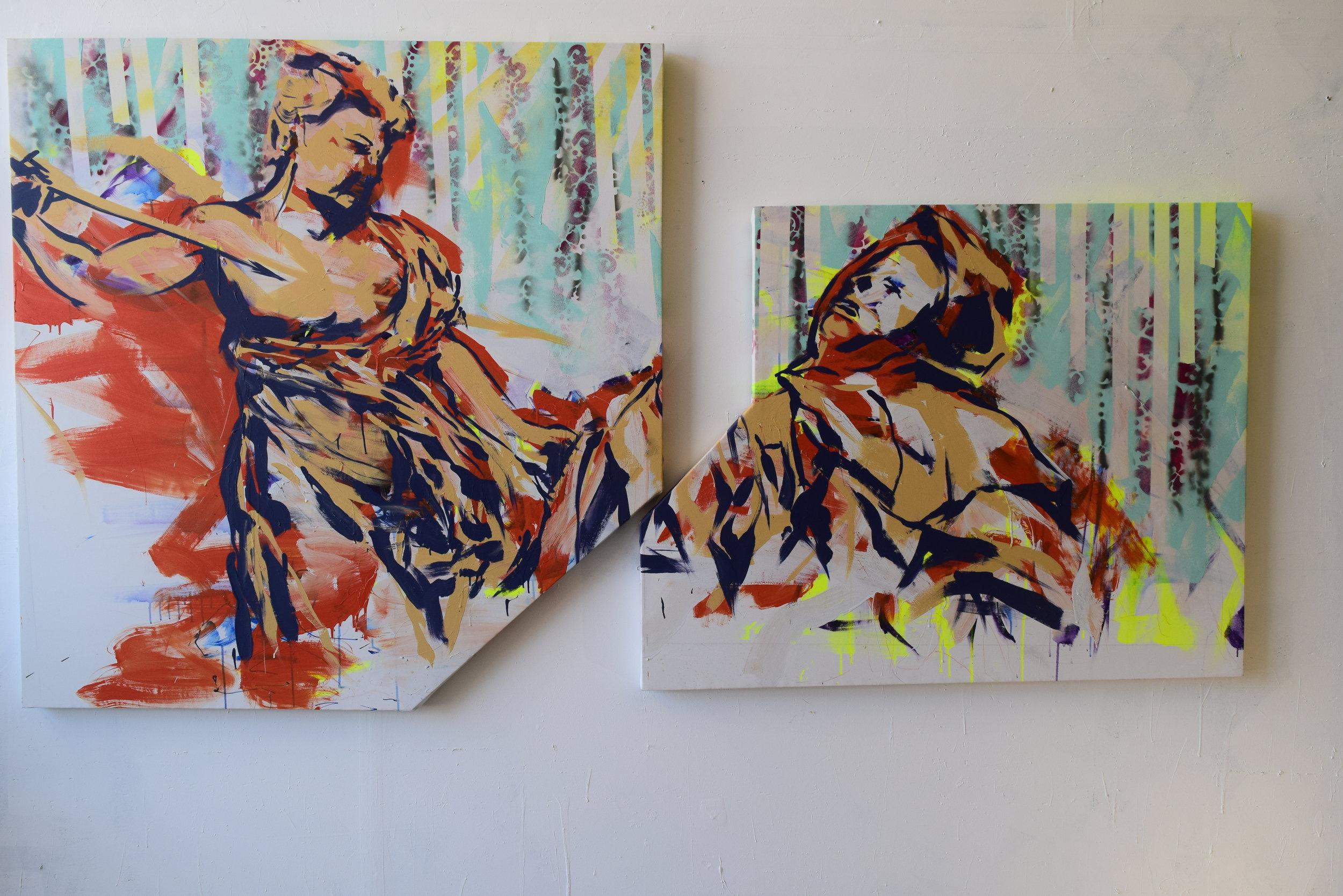 Ecstasy of St Teressa (Bernini Study) Acrylic on Canvas