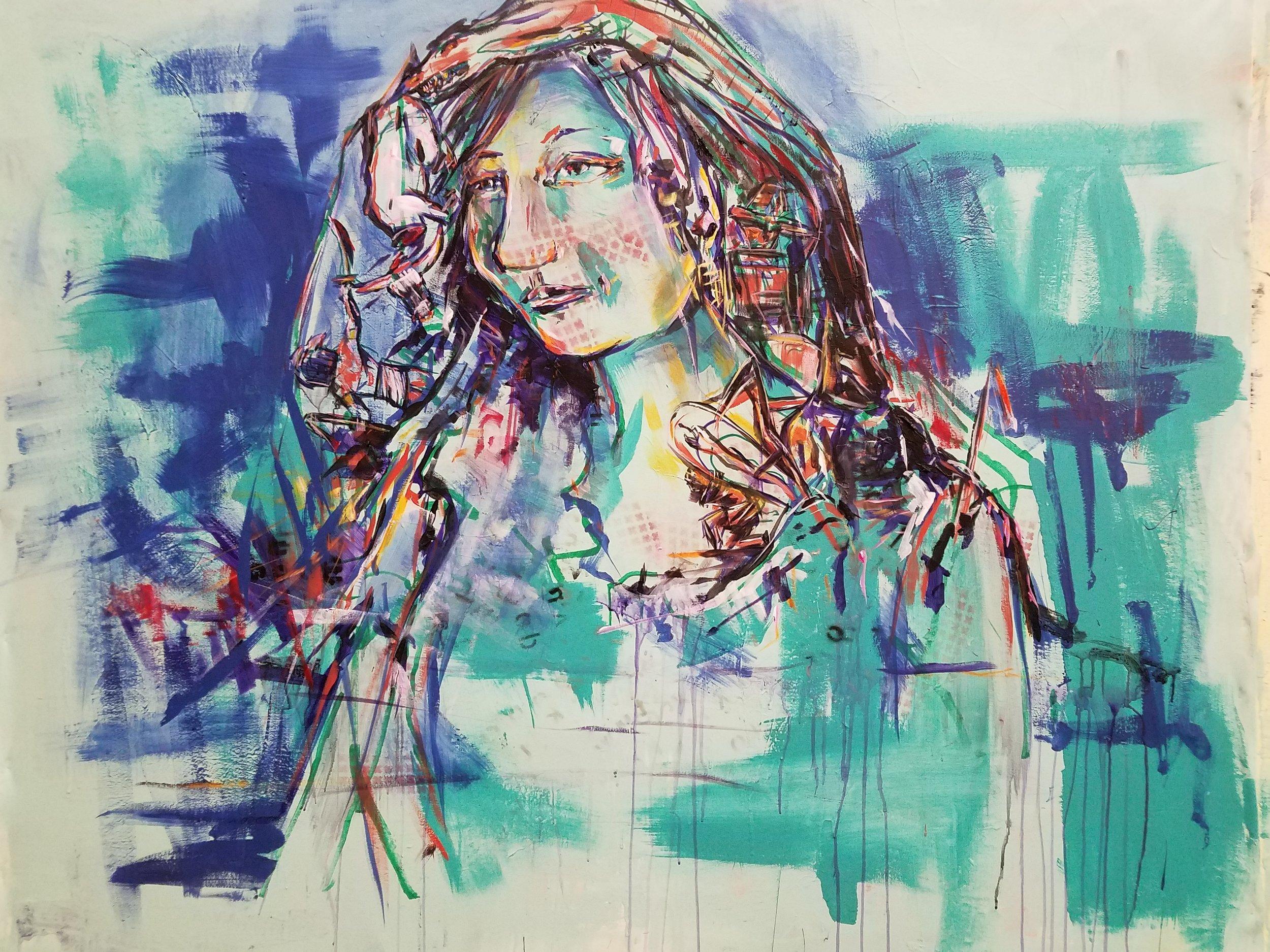 """Acrylic on Canvas   55""""x60"""""""