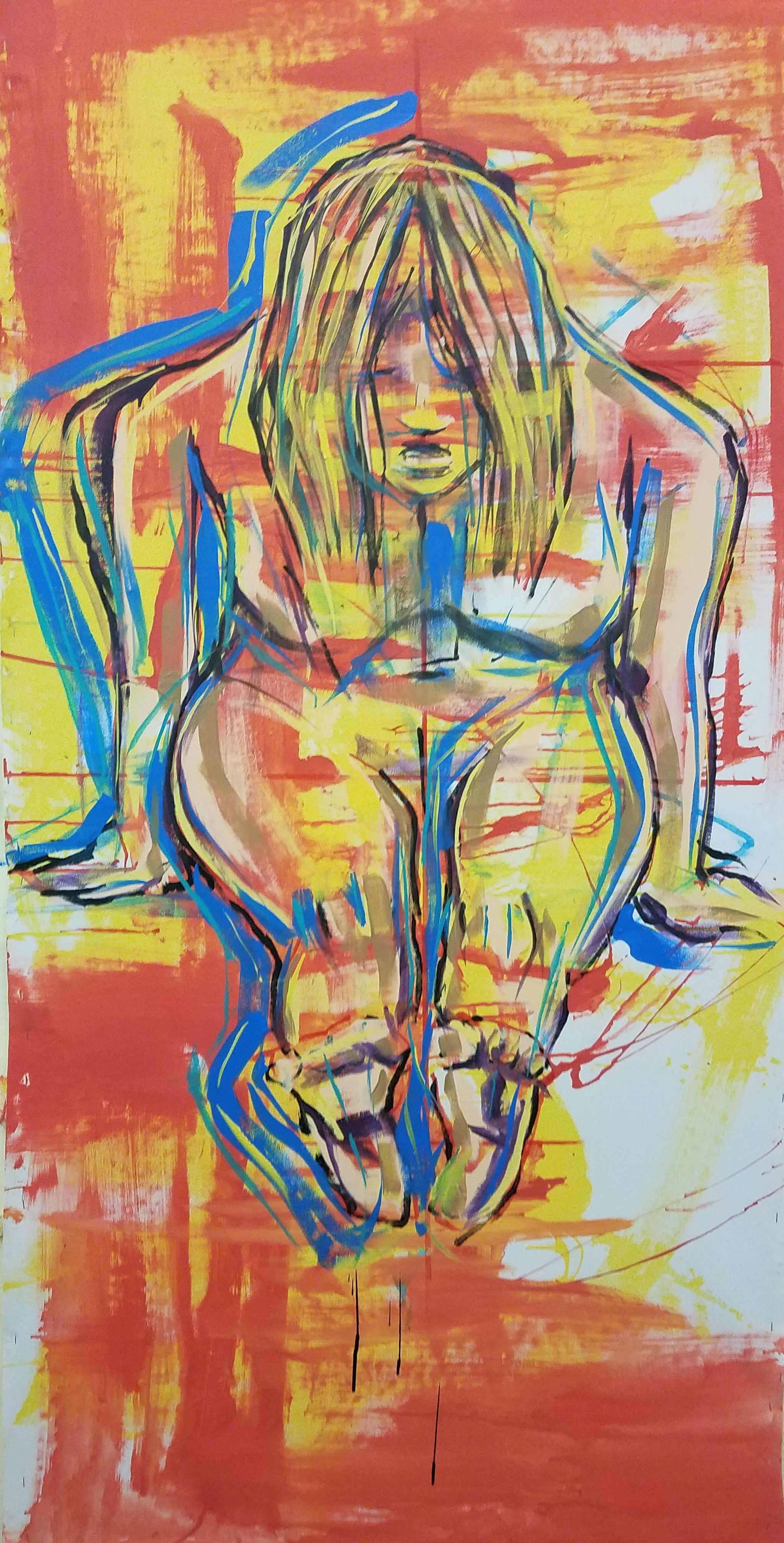 """Acrylic on Canvas 68""""x40"""""""