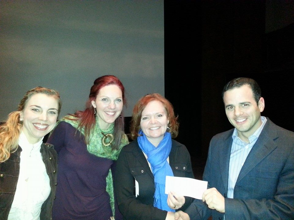 (l to r: AFA Director of Public Relations Marsala Lukianchuk, Allyson Rader and Kelly Robinson of LYNX, AFA Treasurer Justin Boyd)