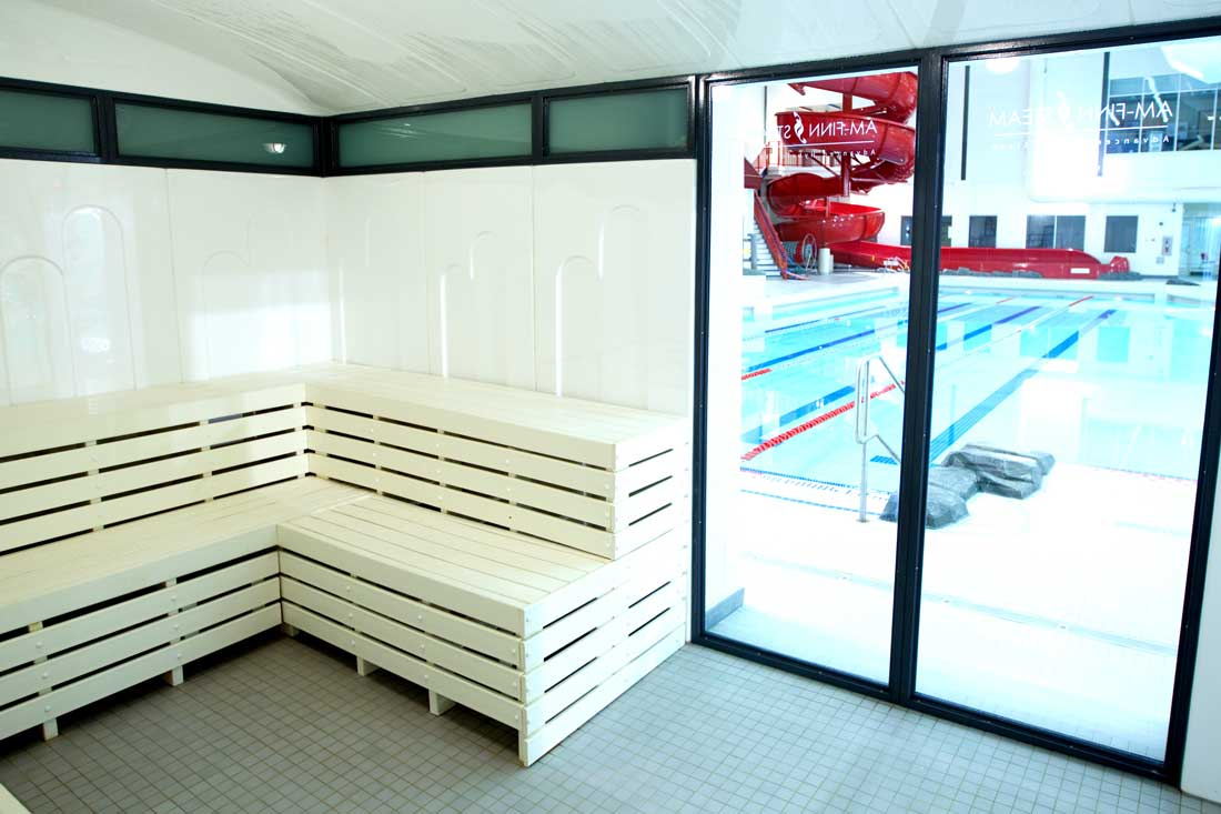 commercial steam room installation