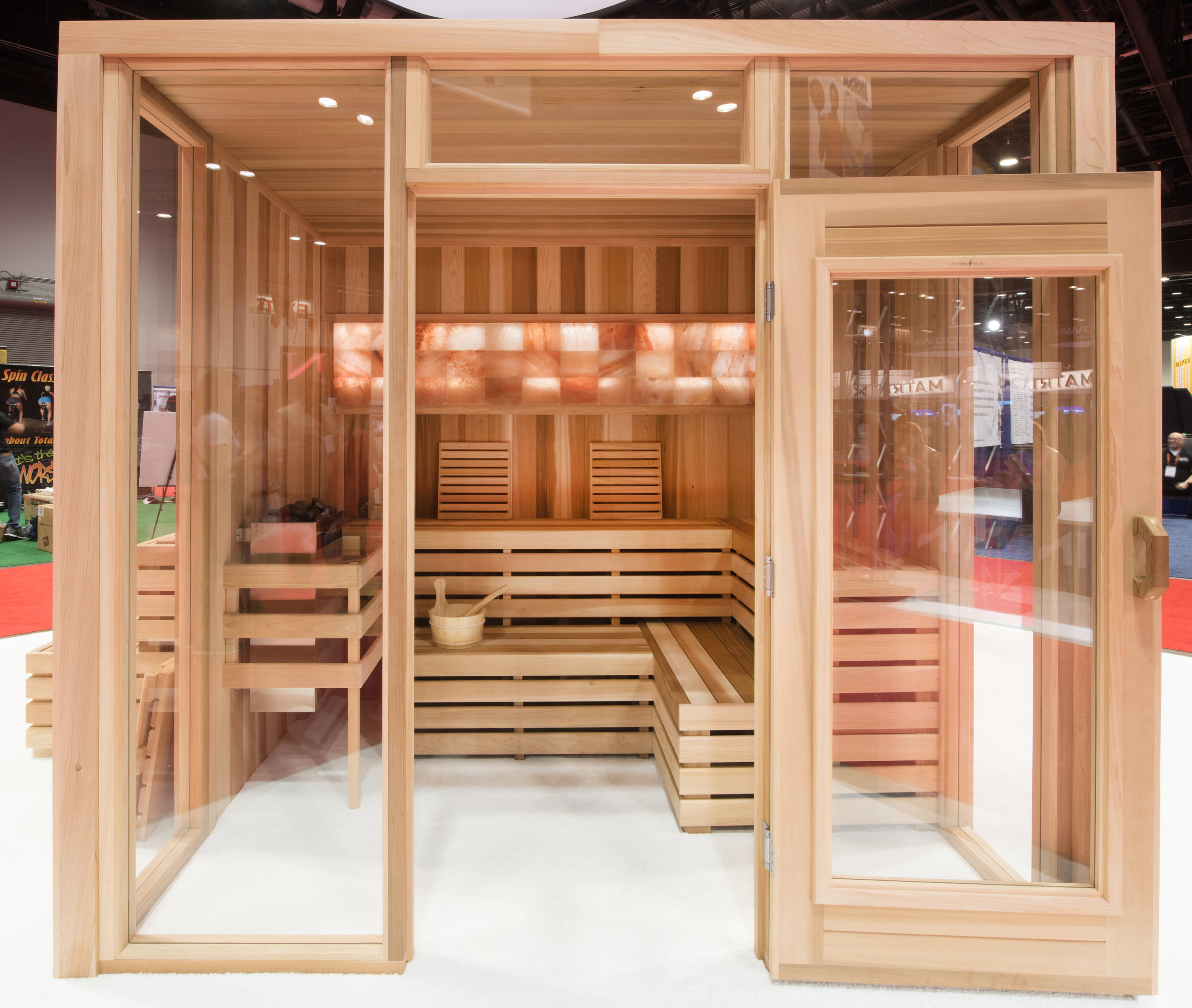 Our sauna at IHRSA 2016