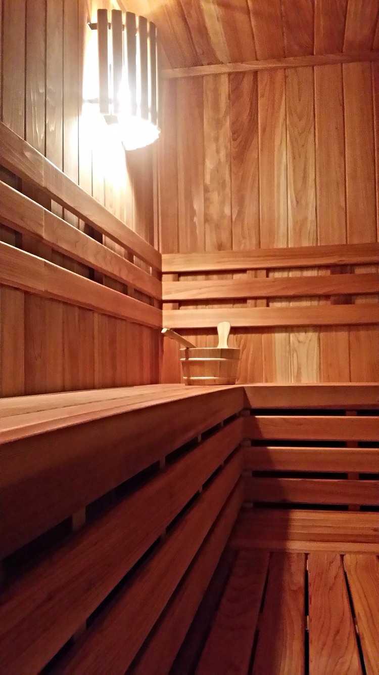 Bright Steam room light , Sauna Bucket and Ladle Set.