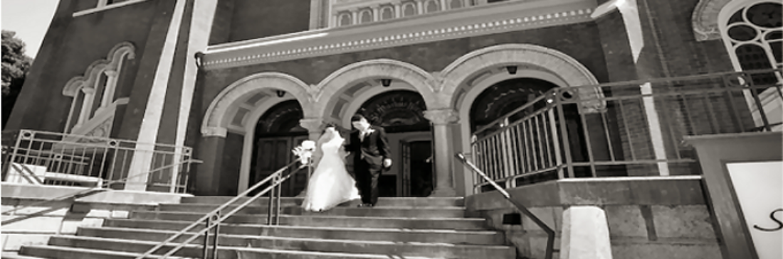 Recessional after a St. Mark's wedding