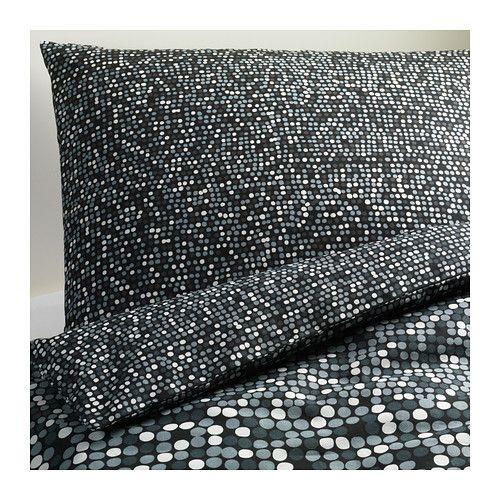 Ikea SMÖRBOLL Duvet cover and pillowcase(s), gray