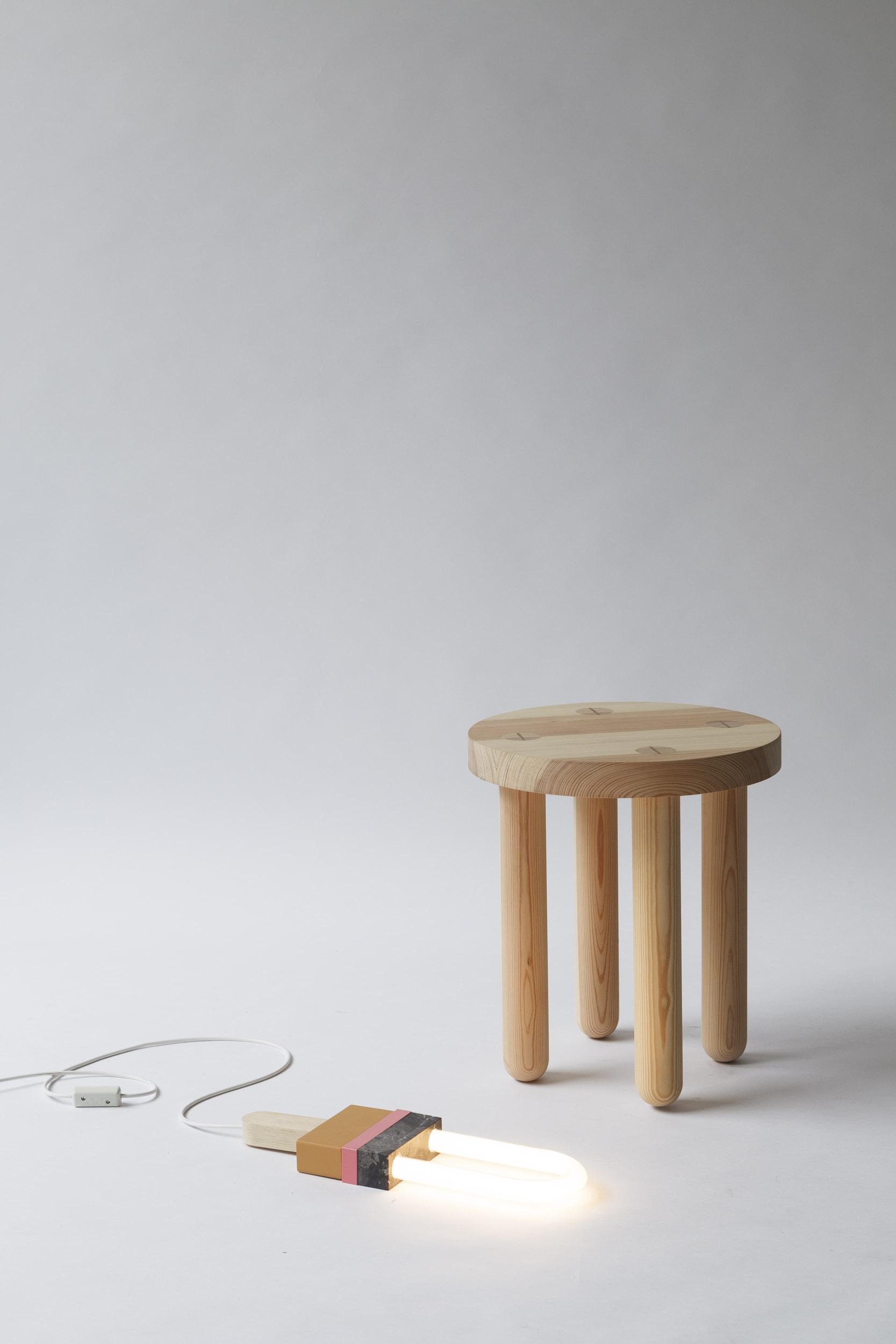 STOOL DOT DOT,  SOLID WOOD, OILED  40 x 40 x 45cm