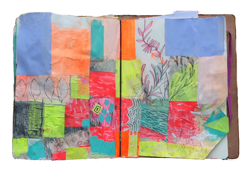 Gouache, collage, & pencil.