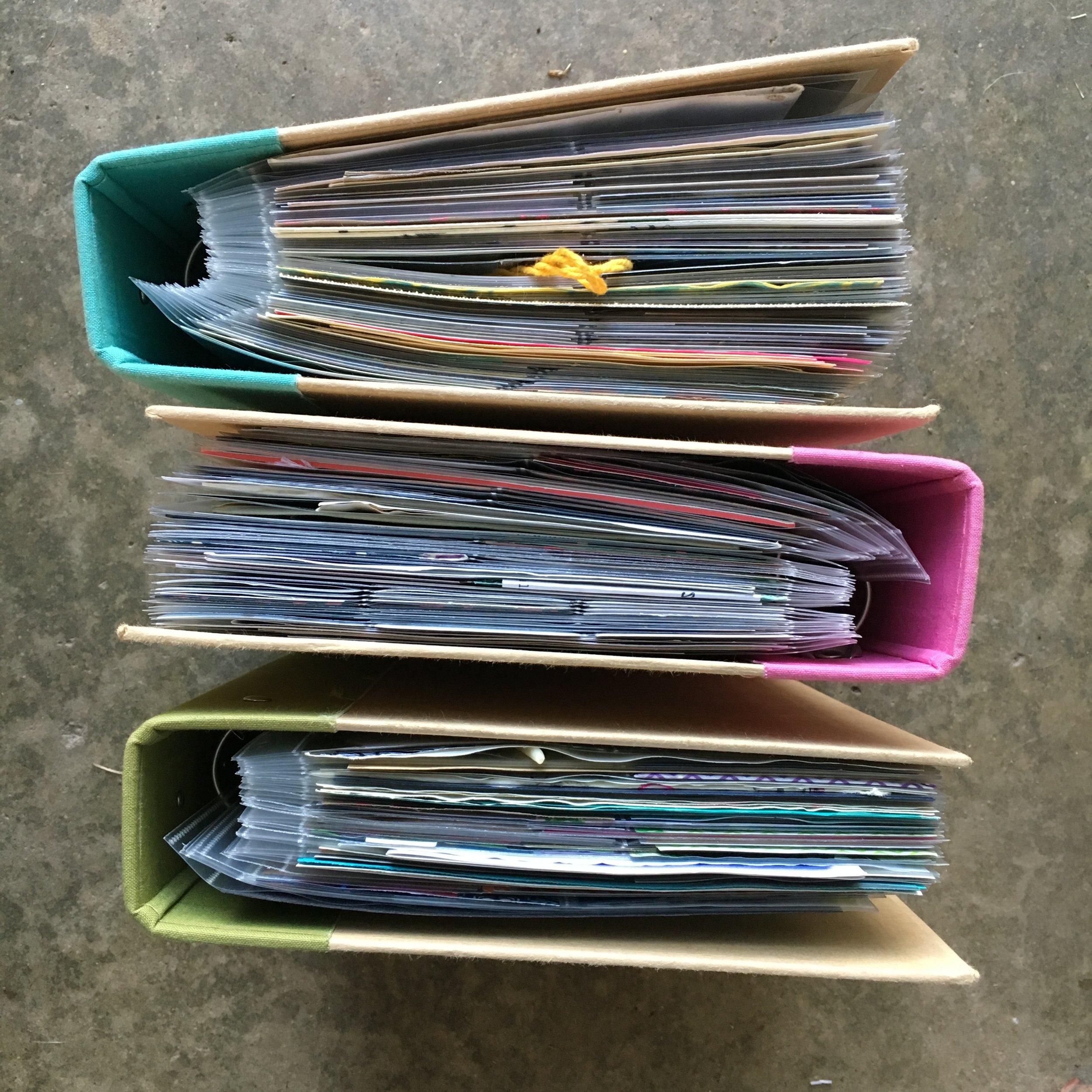 Three years of scrapbooks.