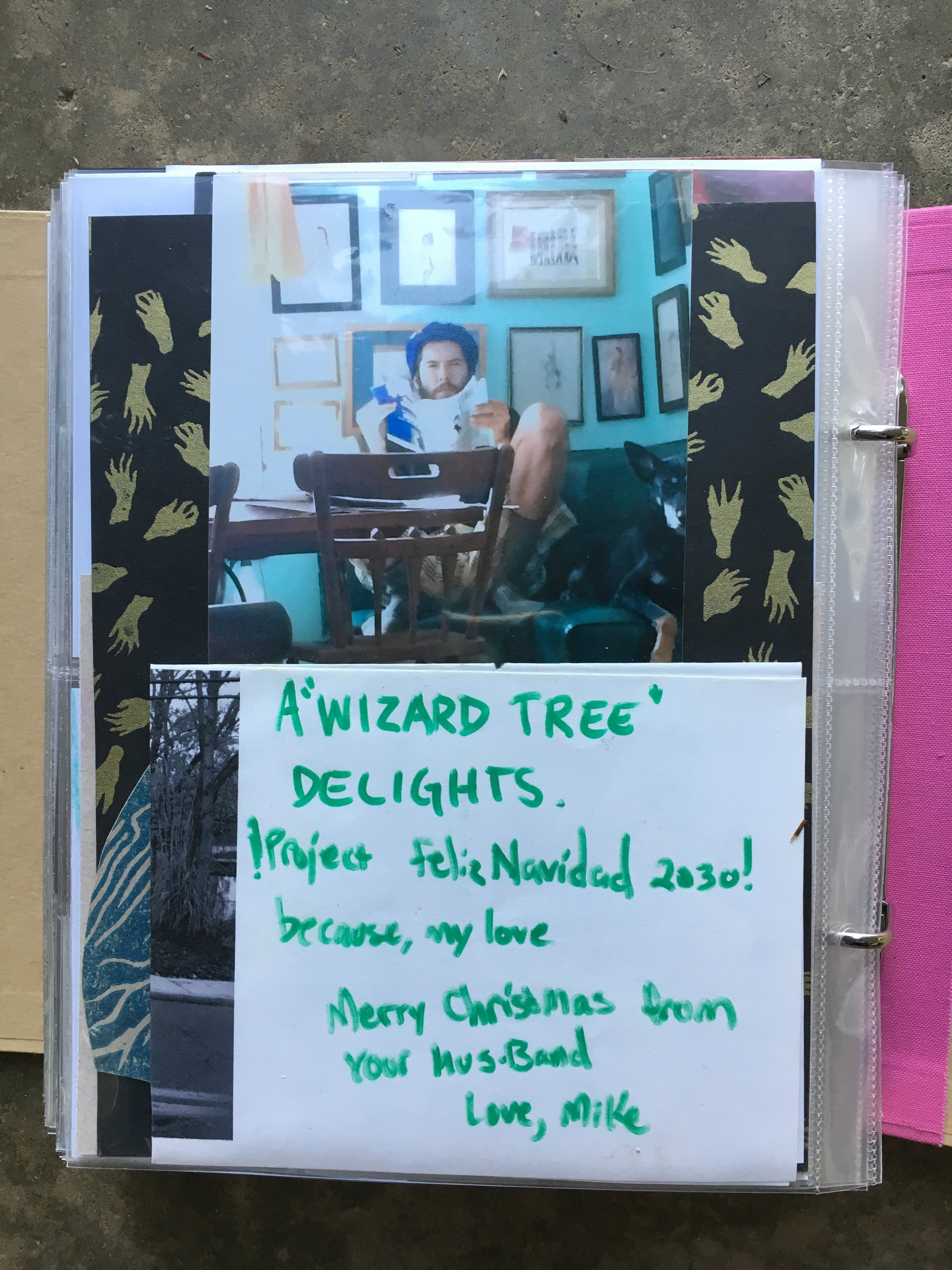 A note from when Mike planted me a wizard tree in Brentwood.