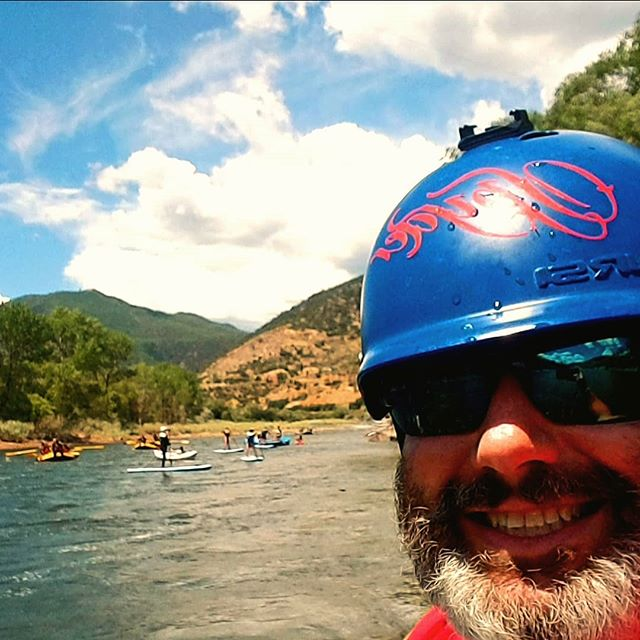 Day 43 was my birthday.  Sooo many people came out to play.  The wind almost got us, but we prevailed and ran all the way through South Canyon.  #yestoadventure #supyes #shaboomee #100daysonaSUP