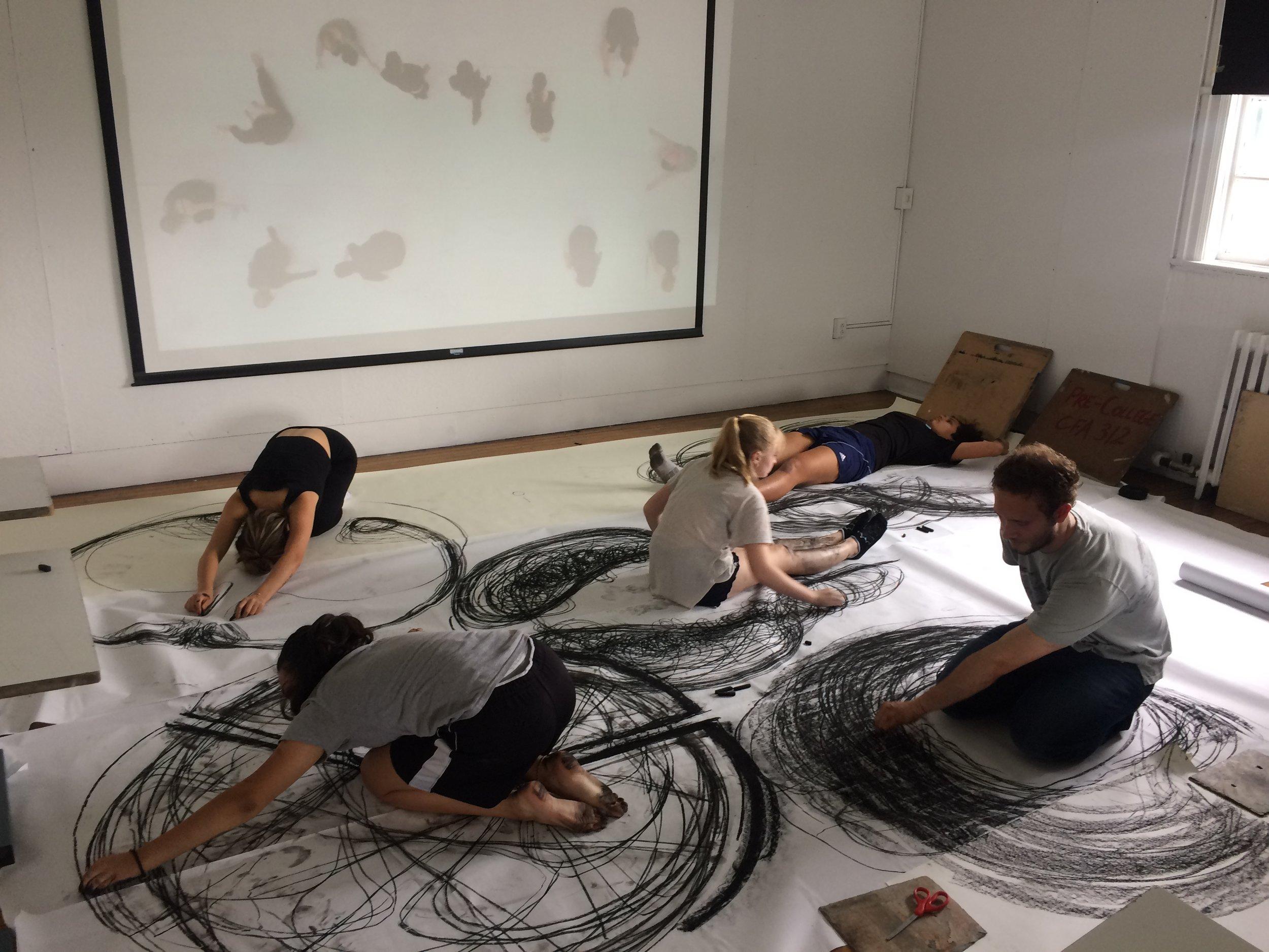 Class: Pre-College Concept Studios at Carnegie Mellon University (2018) Experimental Mark-Making Workshop