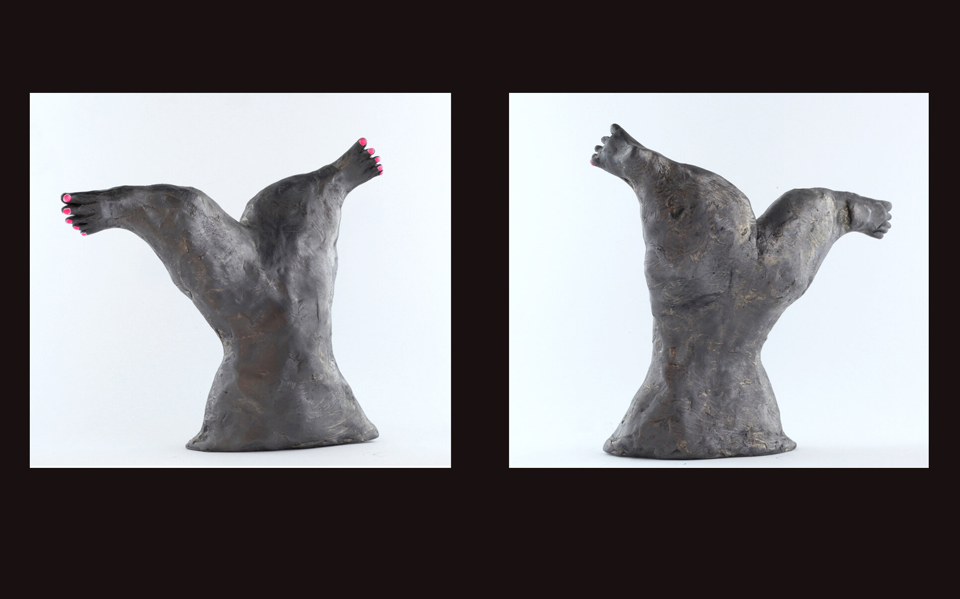 The Feet of Her Tail - A series of small sculptures, 2018.