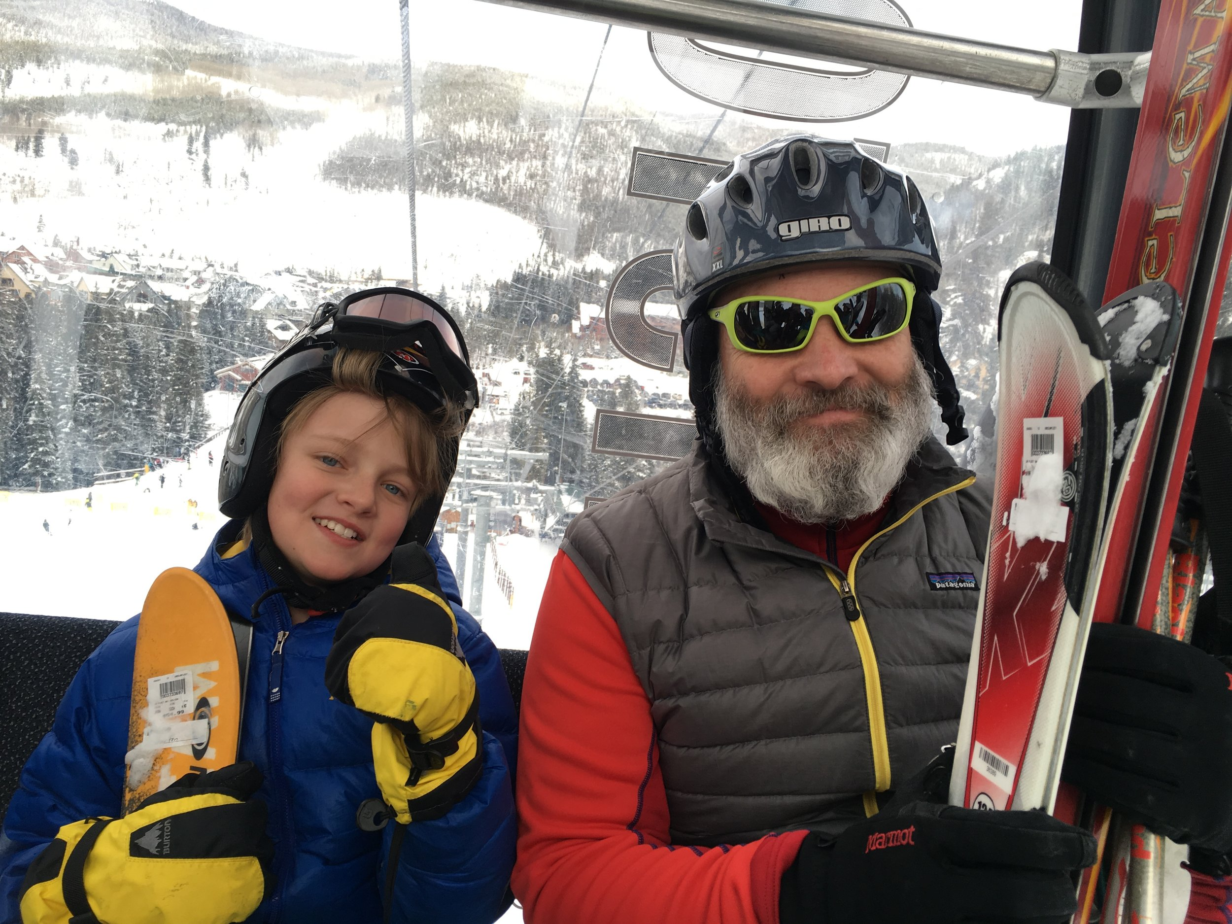 Jake and me in the gondola at Breckenridge