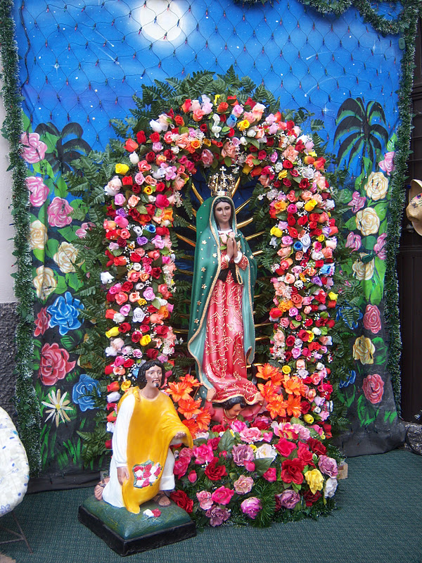 Virgen de Guadalupe altar in Mexico via http://travelingwithanimo.blogspot.ca/2011_11_01_archive.html