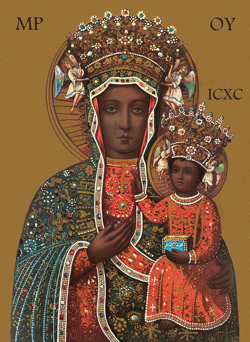 Black Madonna of Częstochowa in the Jasna Góra Monastery in Częstochowa, Poland