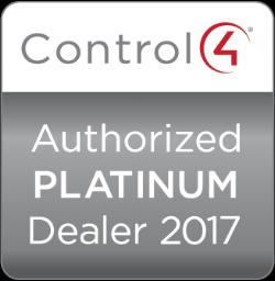 Control4 Authorized Platinum dealer 2017  Control4 Authorized Platinum dealer 2016  Control4 Authorized Platinum dealer 2015  Control4 Authorized Platinum dealer 2014
