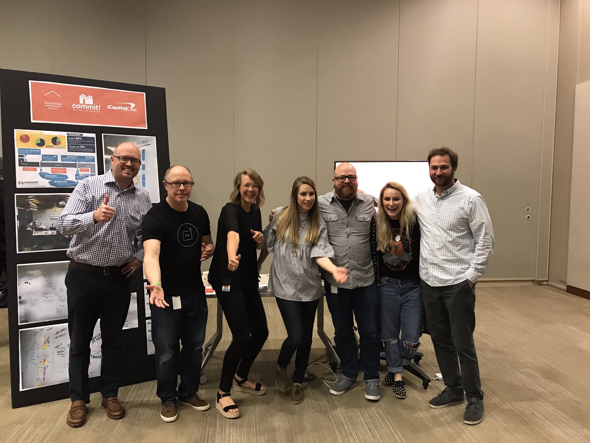 My hilarious group for BarnRaise hosted by Capital One. Together we helped create a structure and pipeline for our nonprofit Commit to use to raise awareness for kindergarten enrollment.