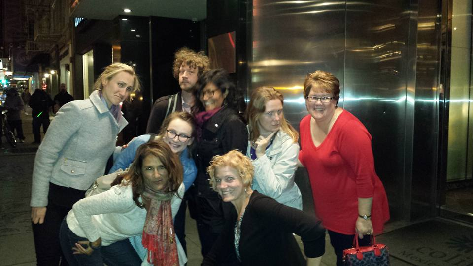 Fun night out with coworkers and clients. Can you feel the woman power radiating through the screen?