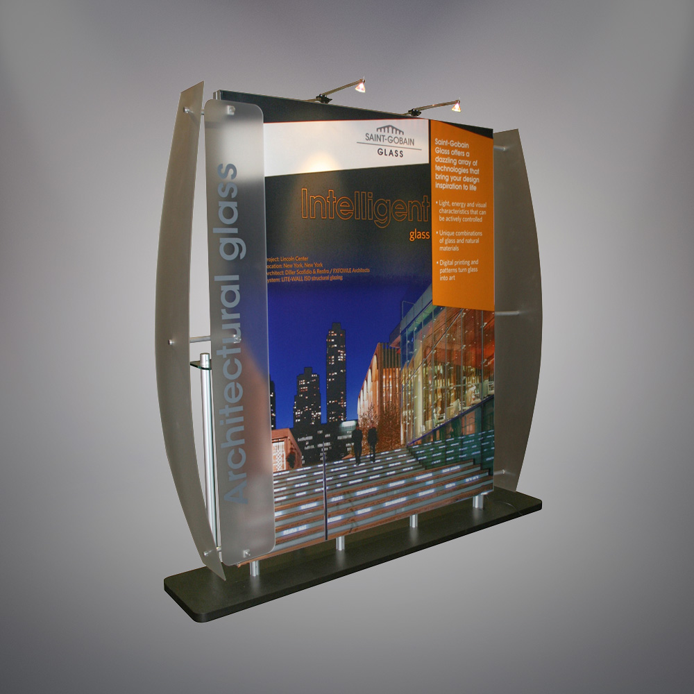 Pictured above is one of the Saint-Gobain Creative Services exhibits that    featured their award-winning graphic design.