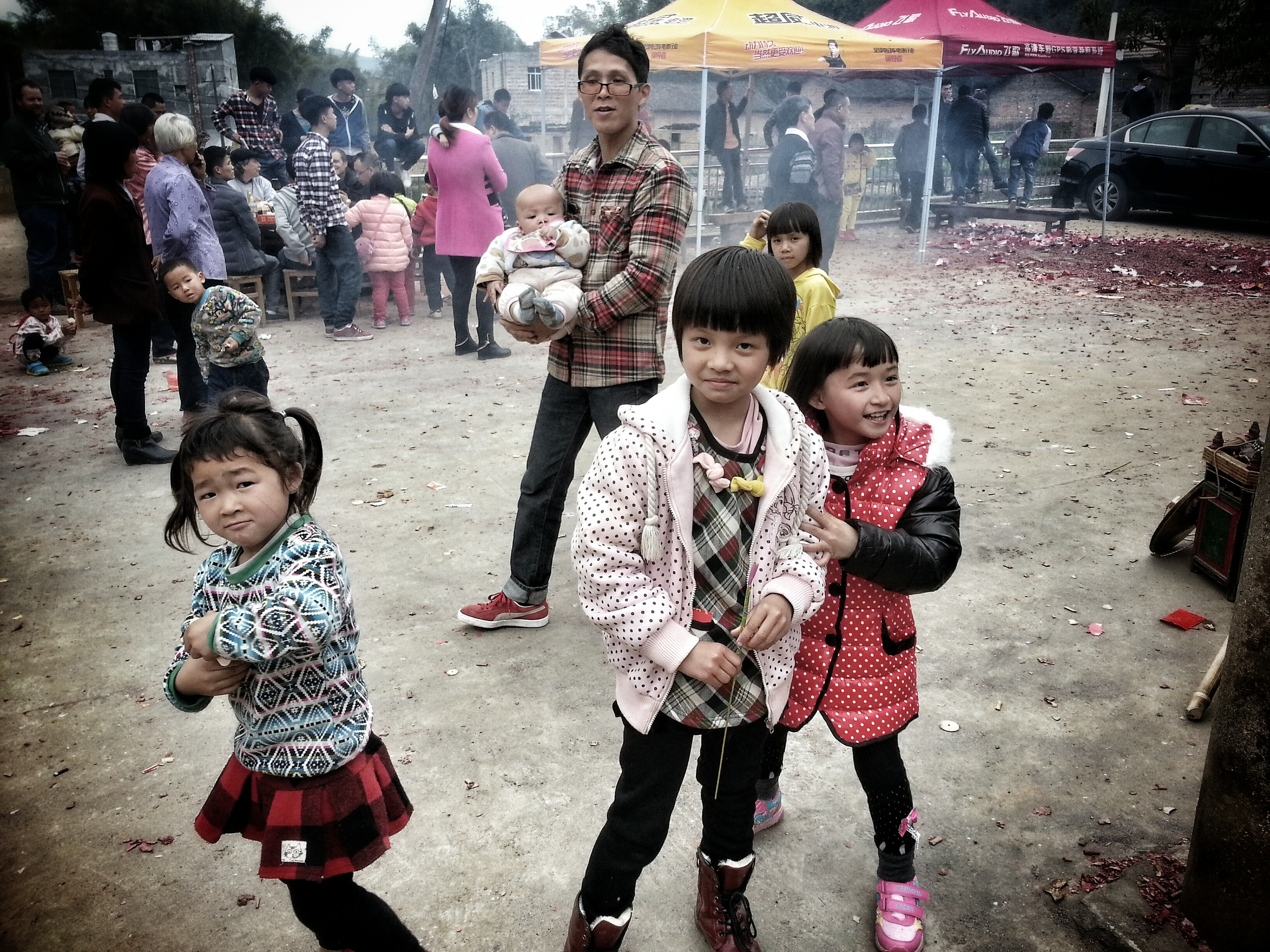 Rural Children on New Year's Day
