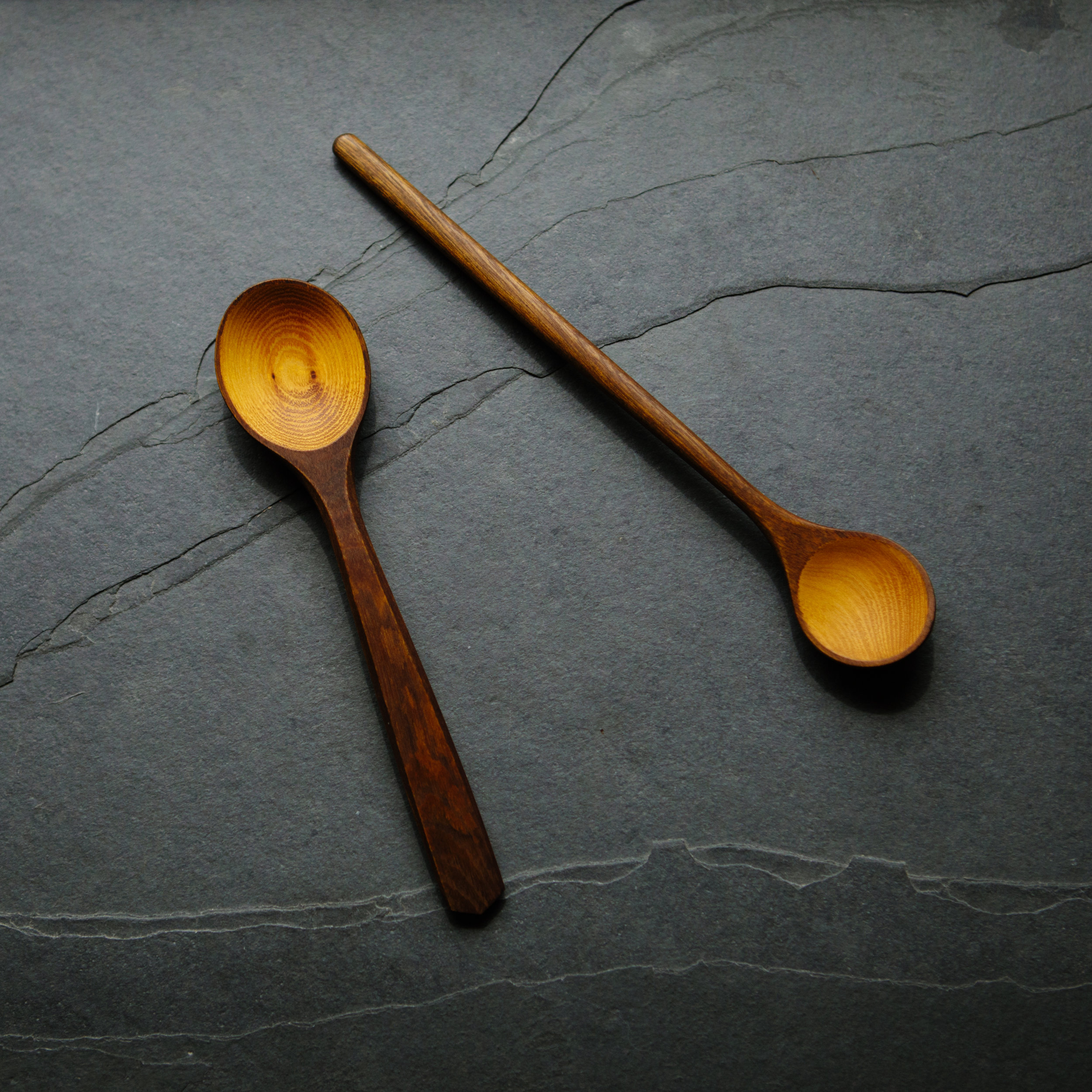 April Osage Orange Spoon, Variation 2 — BLACK SWAN HANDMADE
