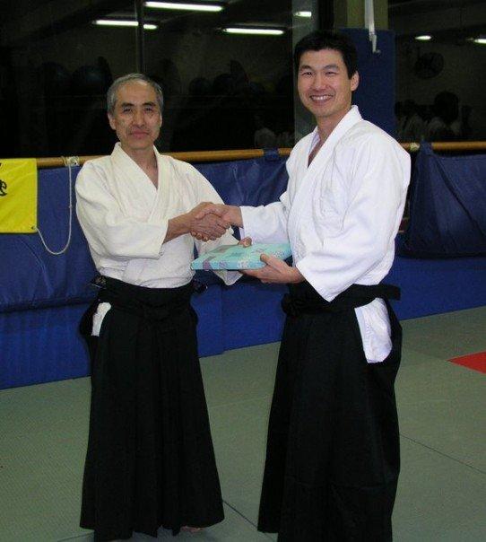 Ozeki Sensei and Allen Sensei at UNSW Dojo in 2007