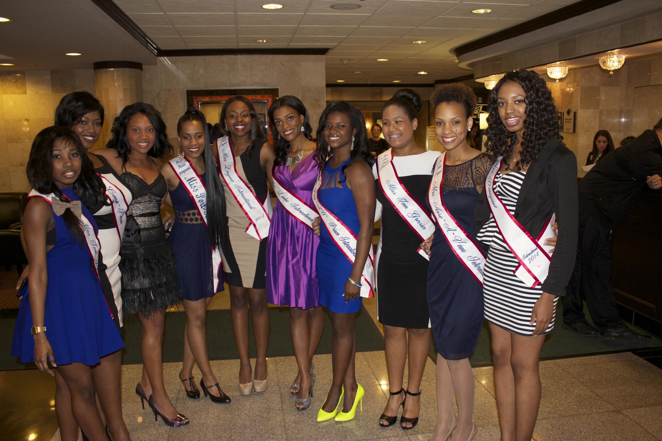 The beautiful Haitian women competing.