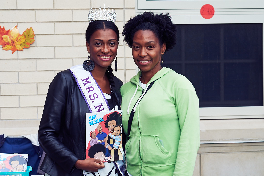 """The very sweet Chiquita Camile, the author of the book I am holding """"Just Because."""""""