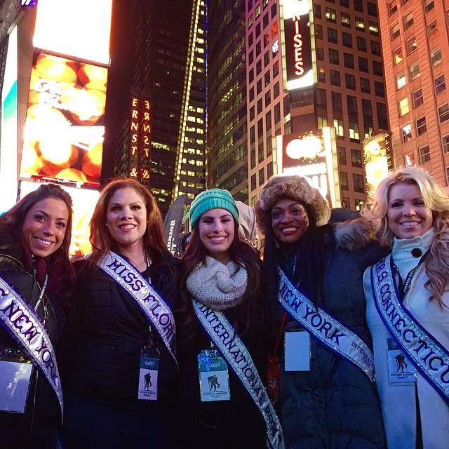 From left to write: Miss New York International 2015, Elaina Estrada; Miss Florida International 2015, Lyss Acosta-Millan; Miss Teen International 2014 Blair Wortsmith; myself, Mrs. New York 2015; Mrs. Connecticut International 2015, Paula Brittingham Mele
