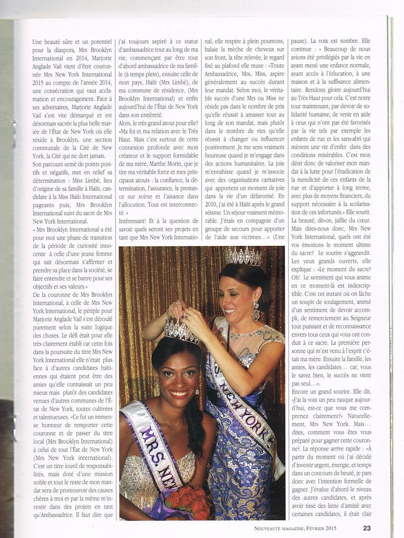 Nouveaute Magazine Interview